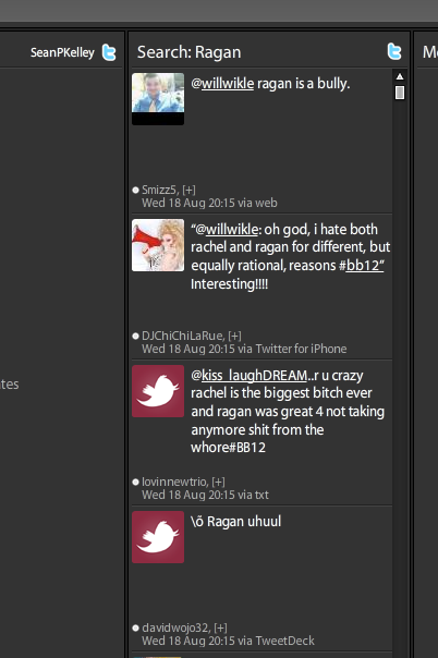 Tweet Deck displaying new column with search terms-screenshot